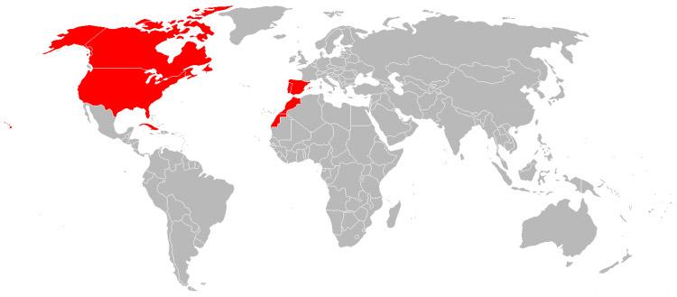 Mapa de Viagens em 2007