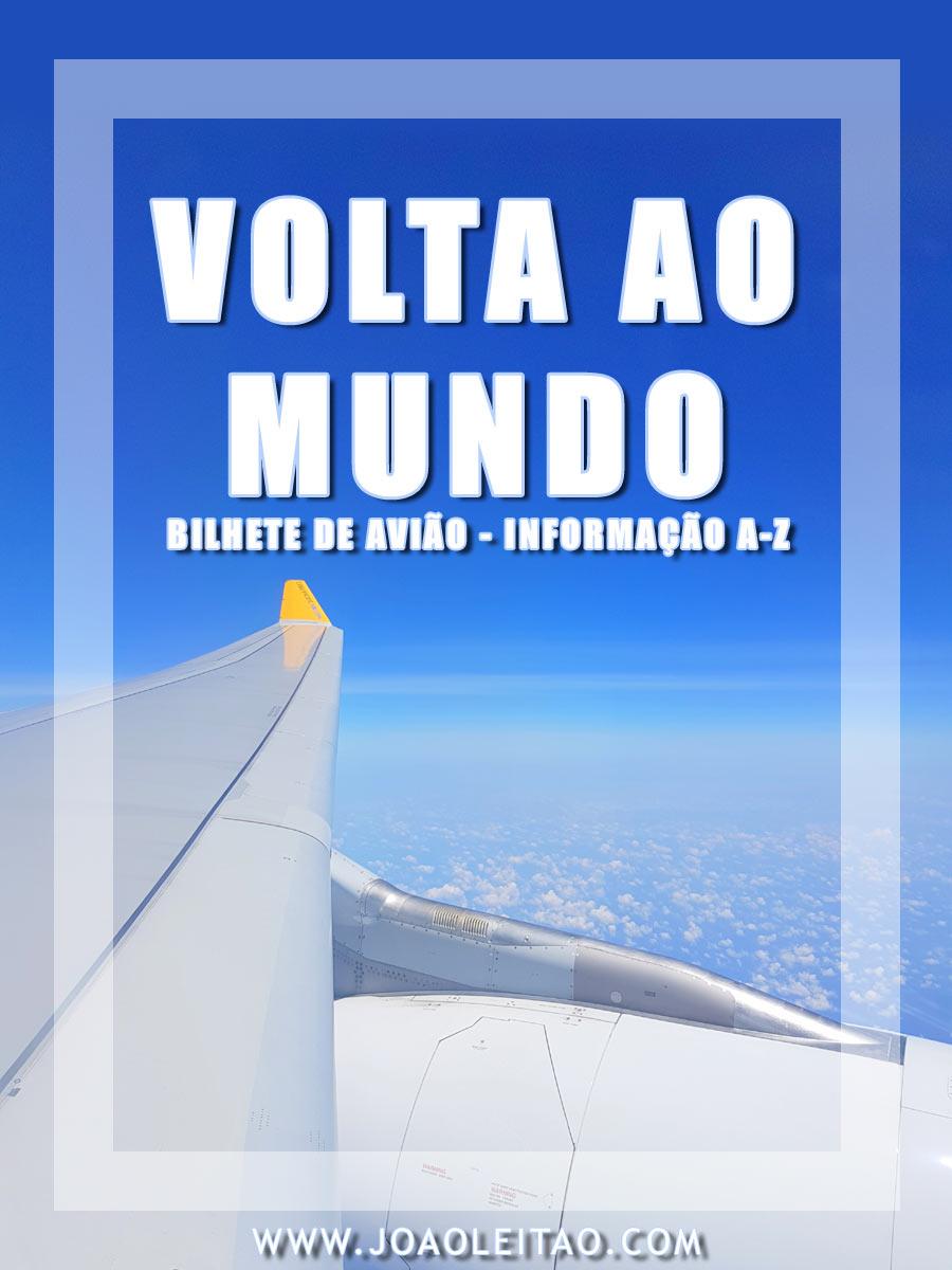 BILHETE AVIAO VOLTA AO MUNDO