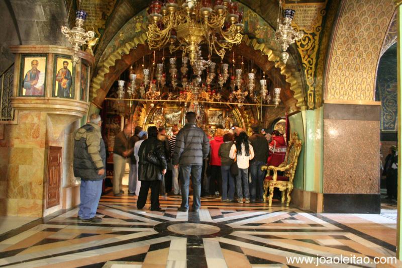 Altar da Crucificacao, onde Jesus teria sido crucificado