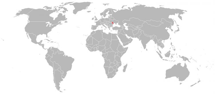 Mapa Moldavia