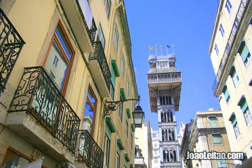 Foto do Elevador de Santa Justa em Lisboa