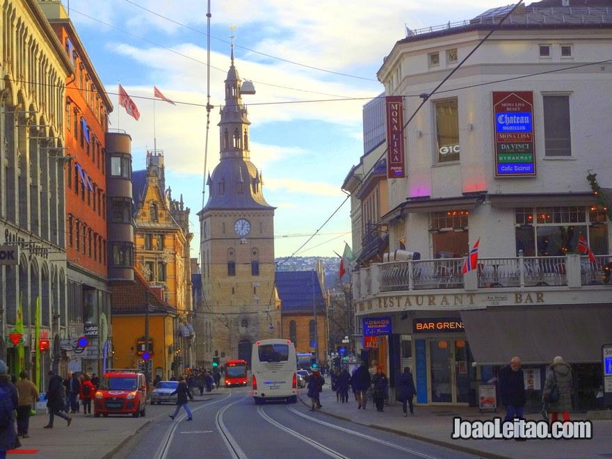 Centro de Oslo, a capital da Noruega