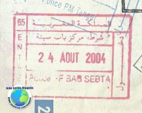 Stamp Morocco (red)