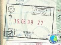 Stamp Poland EU (train)