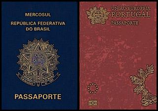 Passaporte do Brasil e Portugal