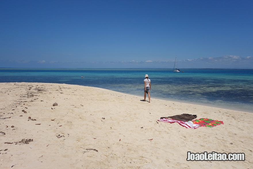 Caminhar nas praias de areia branca