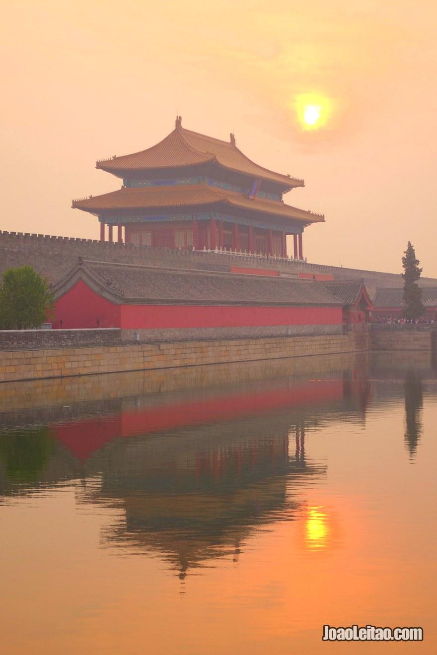 Foto do Portão da Grandeza Divina, o portão Norte da Cidade Proibida