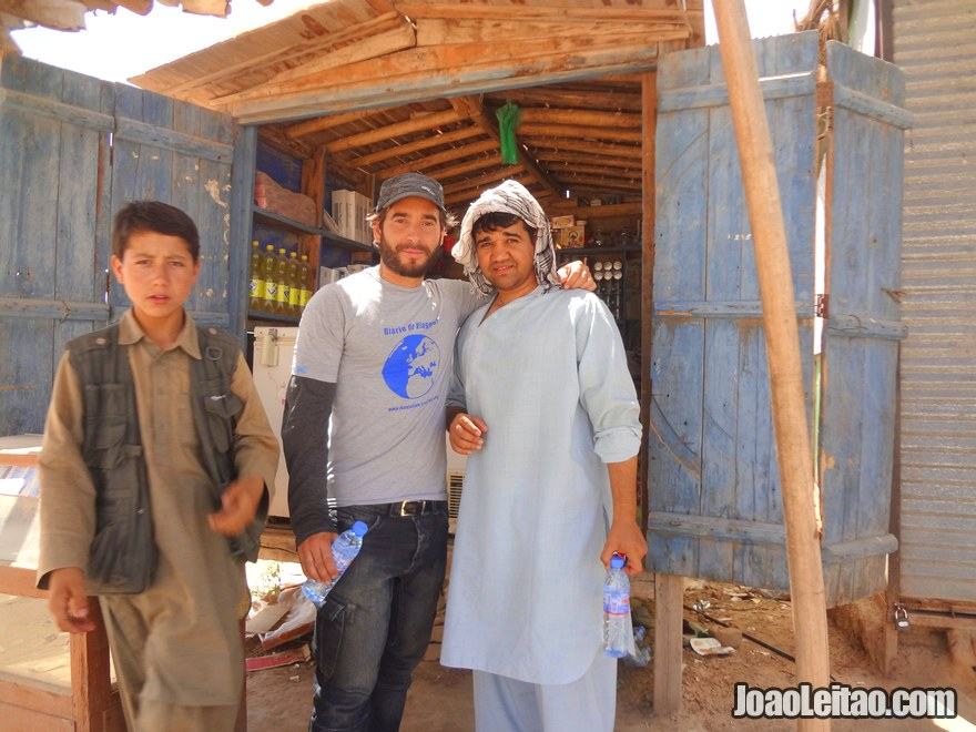 Afghan border official that took me shopping to get some bottle of water