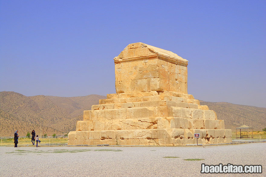 Tomb of Cyrus the Great in Pasargadae old Persian capital - UNESCO Sites in Iran