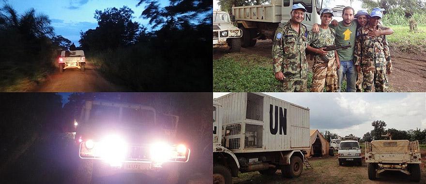 A escolta do exército das Nações Unidas na República Democrática do Congo