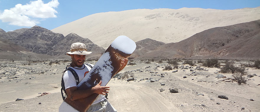 After climbing the tallest sand dune in the world, Cerro Blanco Peru - Travel Blog