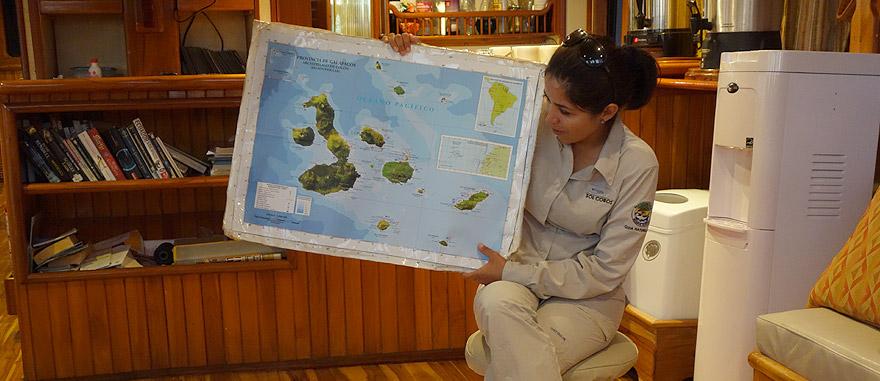 Guia oficial nas Galápagos