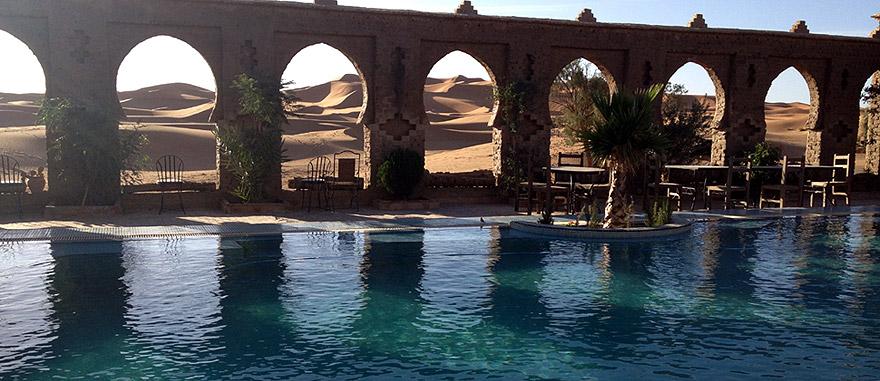 Swimming pool - Mind-blowing Sahara Desert Hotel