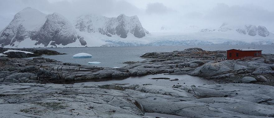 Argentine Antarctica 1955 refuge hut in Petermann Island
