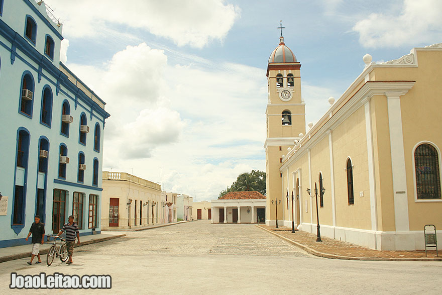 Square with the Parochial Church San Salvador in Bayamo