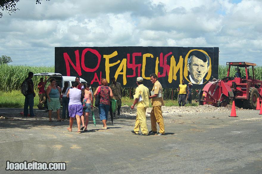 No to Fascism with Bush / Hitler image