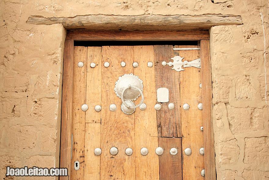 Traditional wooden door in Timbuktu