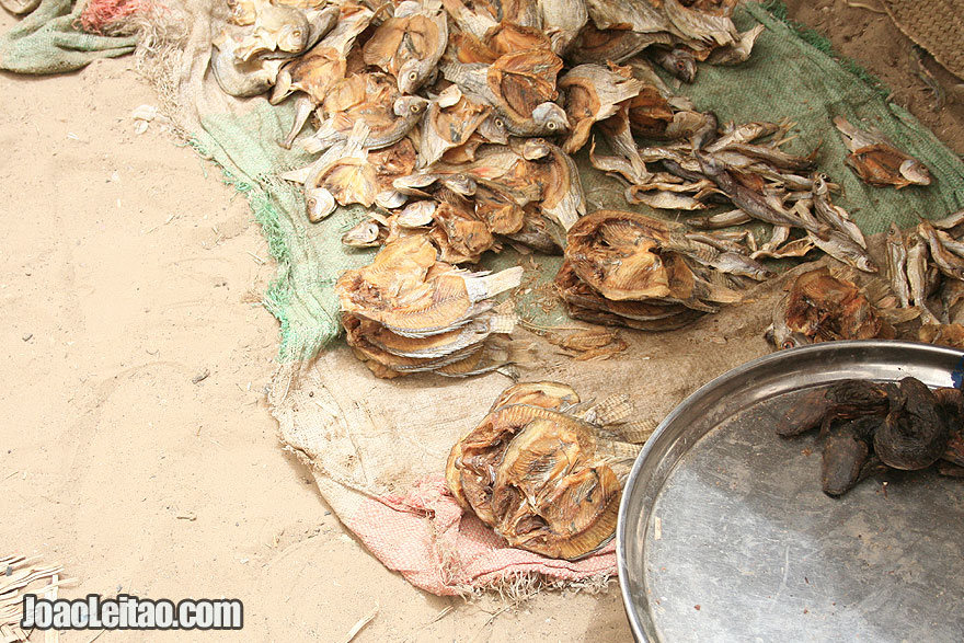 Dried fish for sale in Timbuktu market
