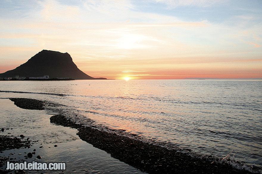 Sunset over Grundarfjordur Bay