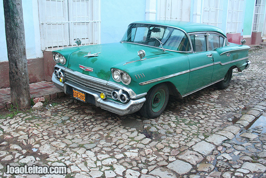 Old American Car in Trinidad
