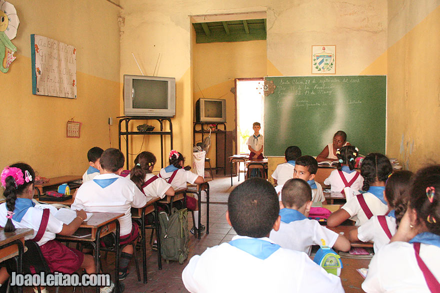 Students inside the classroom of a school in Remedios