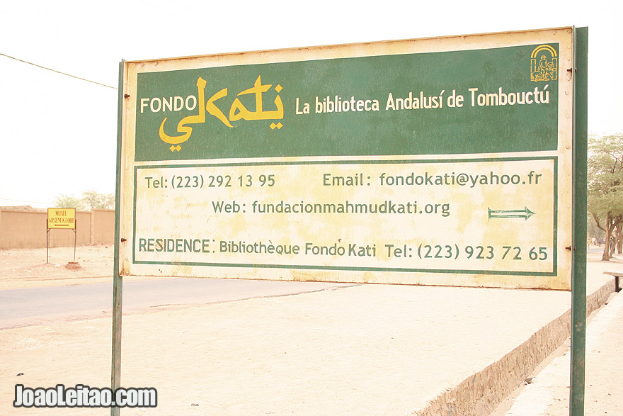 The Timbuktu Andalusian Library street sign