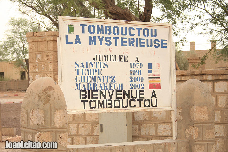 Welcome to Timbuktu city sign