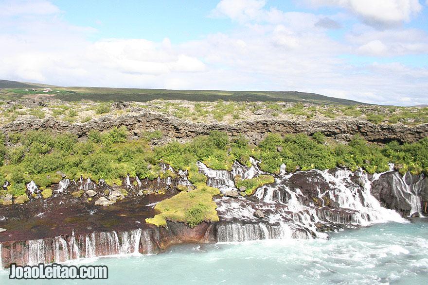 Visit Barnafossar Waterfall Western Region Iceland
