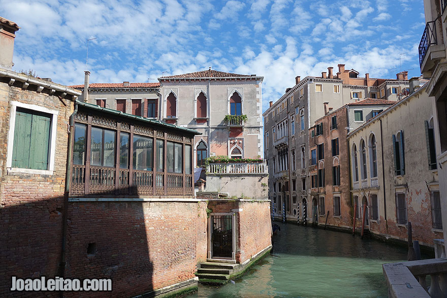 Beautiful Venice architecture and water canal