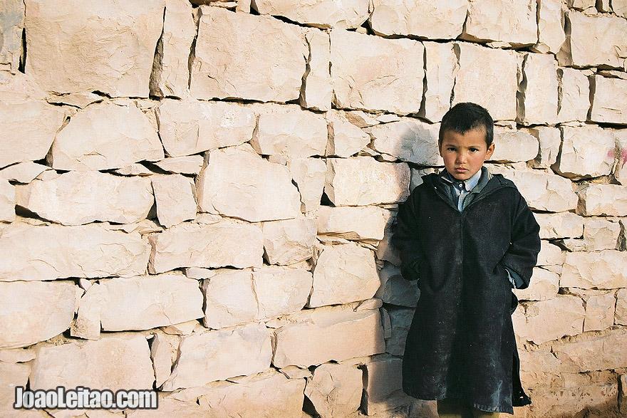 Photo of boy in Agoudal village, Morocco