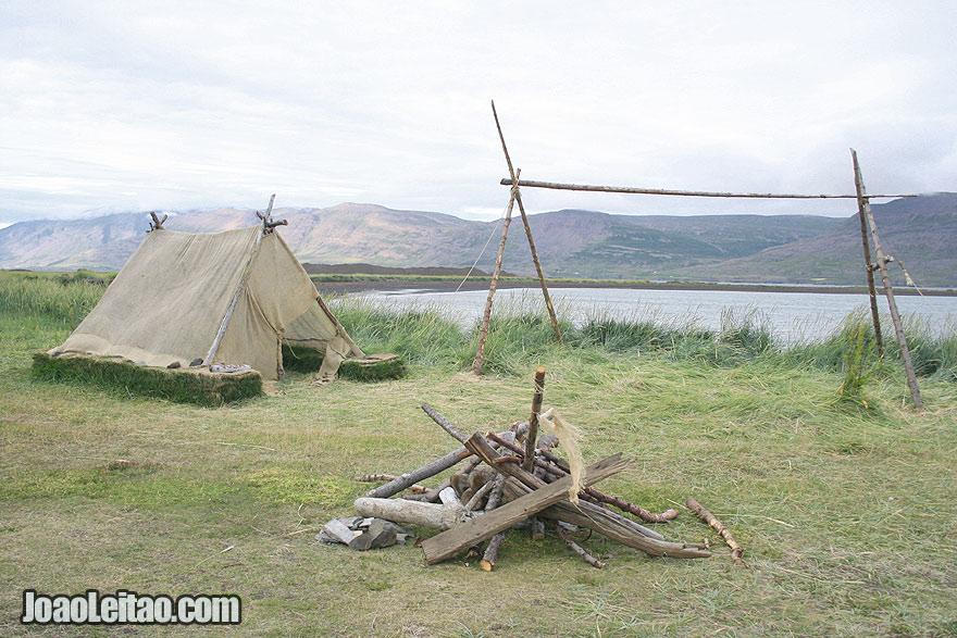 Gasir medieval trading place Eyjafjordur Northeastern Region Iceland