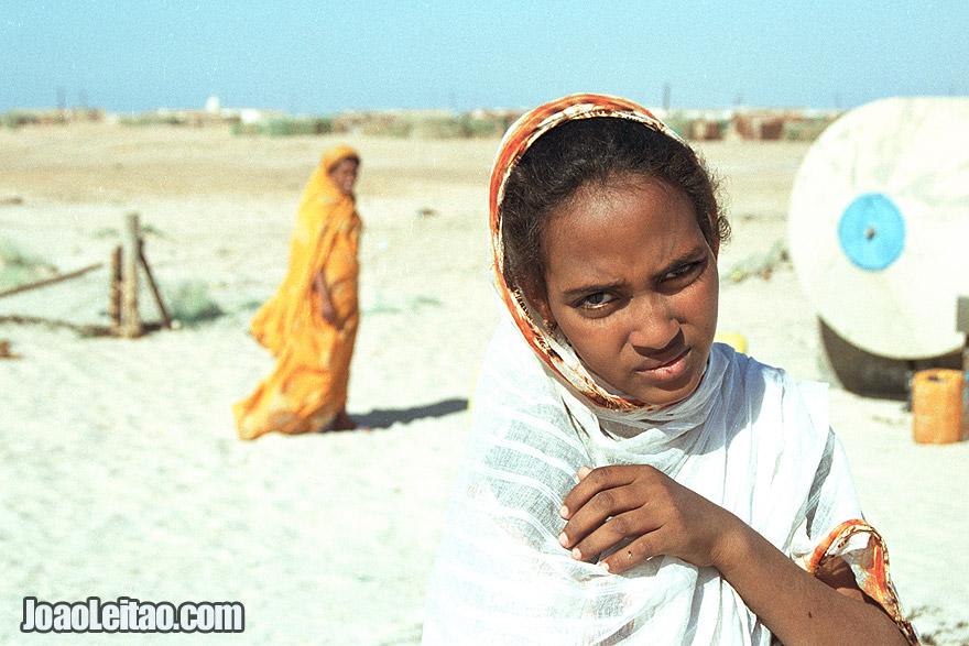 Girls in Nouamghar fishermen village, Islamic Republic of Mauritania