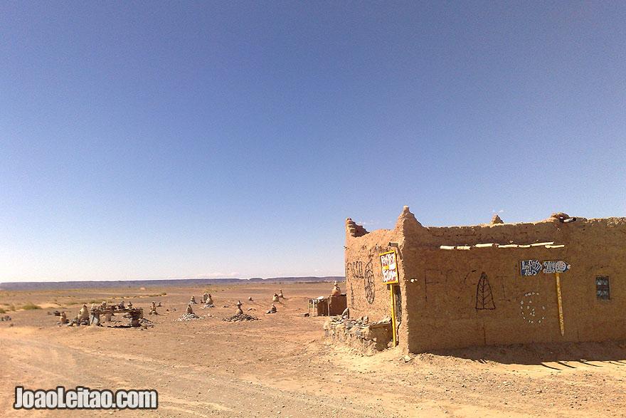 Mud house in Sahara Desert