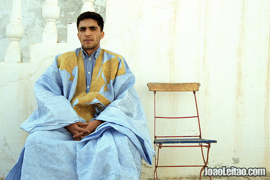 Moor man with traditional clothing, Islamic Republic of Mauritania