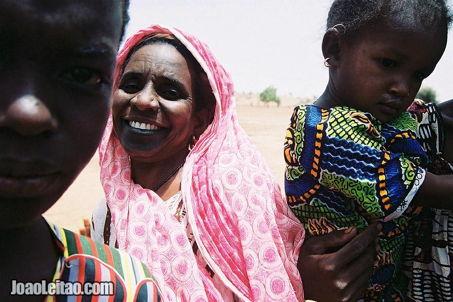 People in village near Mali border, Senegal