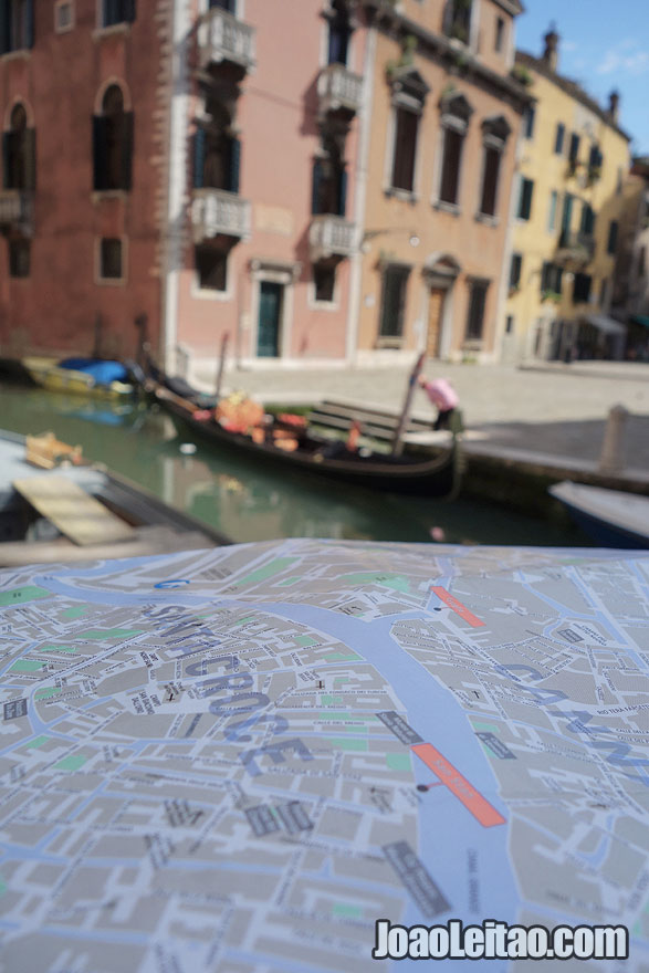 Exploring Venice with a Map