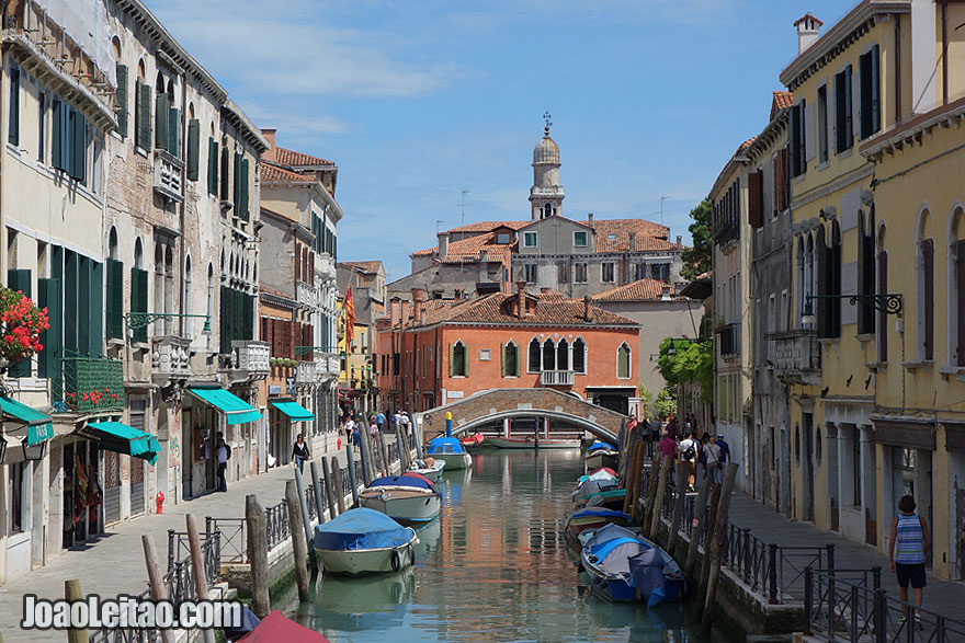 Venice beautiful water canal scene