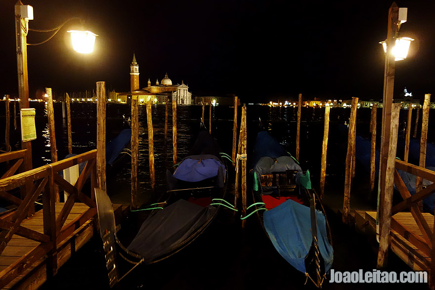 Gondolas by night