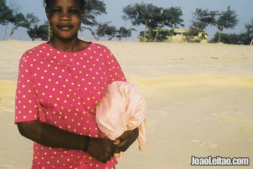 Woman in Saint-Louis Beach, Senegal