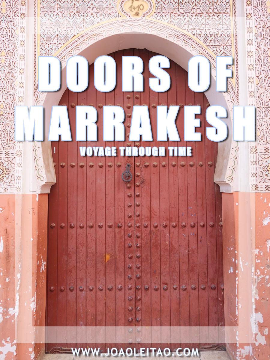 Doors of Marrakesh, Morocco - Voyage Through Time