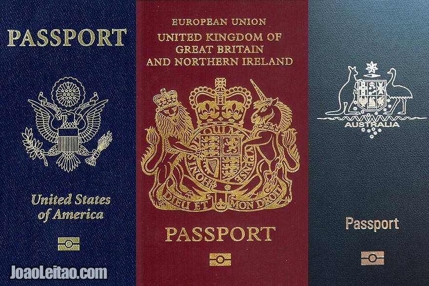 US UK and AU Passport cover