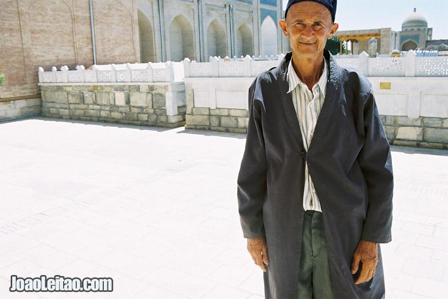Man in Bahauddin-Naqshbandi in Bukhara