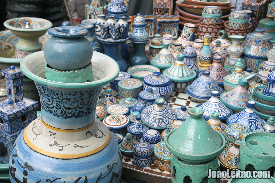 Traditional northern Morocco ceramics in Chefchaouen