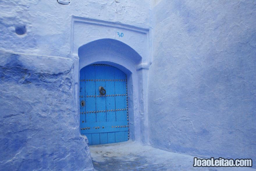 Beautiful blue door in Chefchaouen