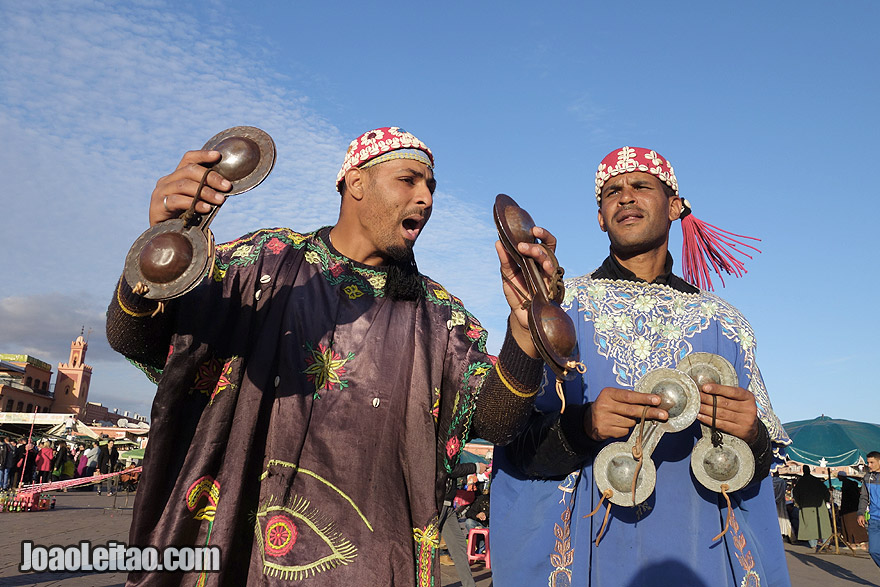 Gnawa dancers and musicians of Marrakesh