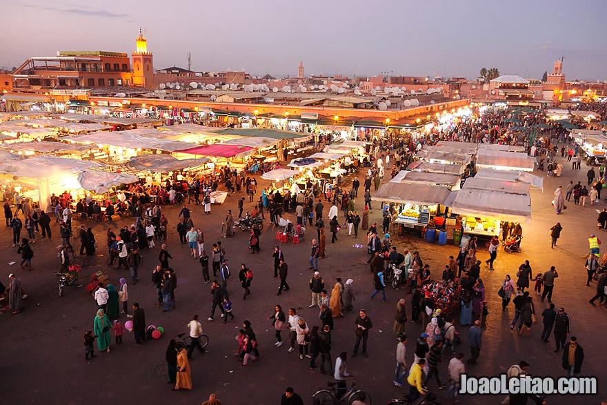 Djemaa El Fna Square in Marrakesh
