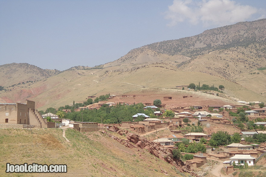 Upper view of Katta Langar village