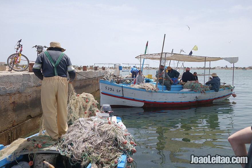 Fishermen of Kerkannah Island in Tunisia