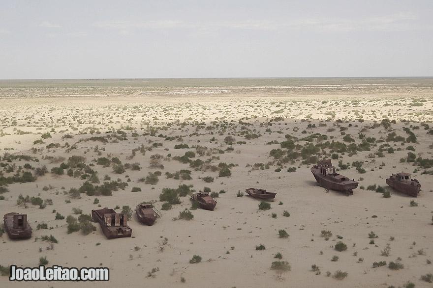 Muynak boat cemetery in Uzkekistan