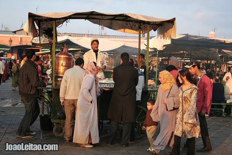 Tea stand of Marrakesh